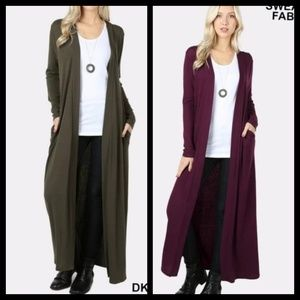 Sweaters - 🍁Green and plum cardigan - jacket